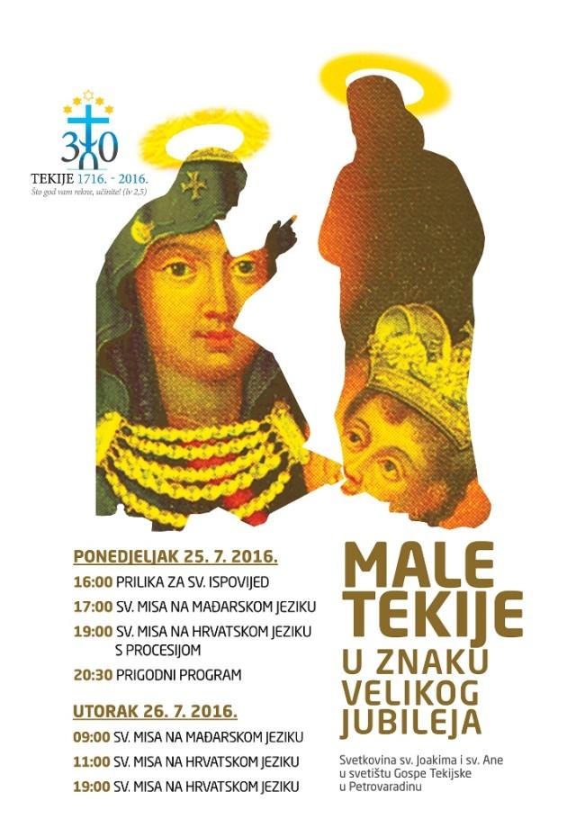 Male tekije najavljuju središnju proslavu Velikog jubileja u Petrovaradinu